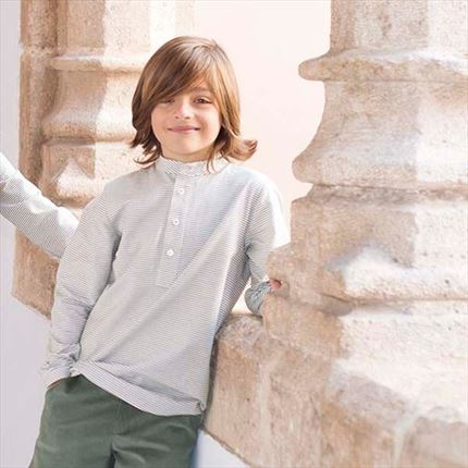 EVE CHILDREN | Camisa niño rayas FOREST