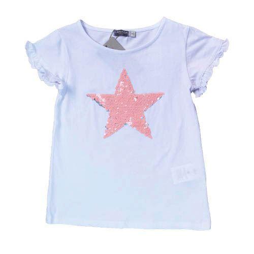024e56ad9 Camiseta lentejuelas reversibles niña