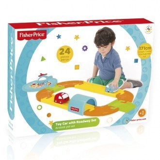 Circuito con 3 vehículos | Fisher Price | Universo mini