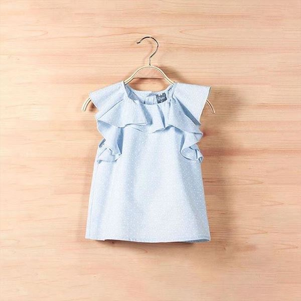 Blusa junior topitos azules