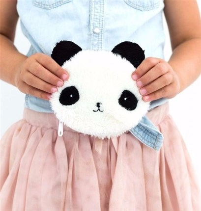 A Little lovely company| Monedero cartera con forma de oso panda| Universo Mini
