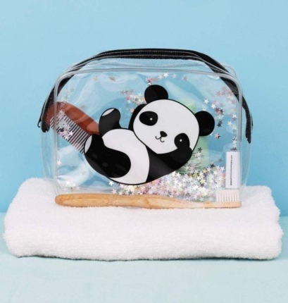 Neceser purpurina panda | A little lovely company España