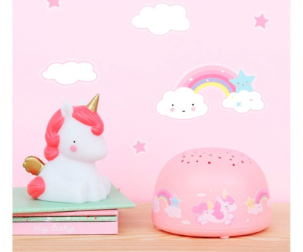 Proyector unicornio | A Little Lovely Company España Universo Mini
