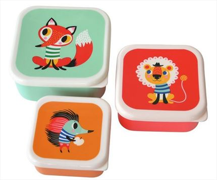 Set 3 Cajas Almuerzo Helen dardik animals |Petit Monkey | Universo Mini