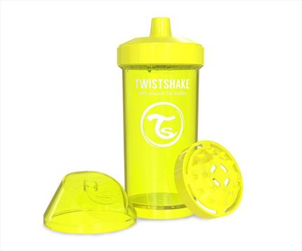 Vaso aprendizaje +12 m Twistshake kid cup 360 ml color amarillo