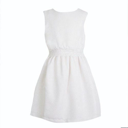 Vestido teen verano blanco roto engomado | EVE CHILDREN | universo mini
